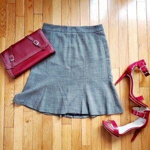 NWT BANANA REPUBLIC gray fit and flare skirt